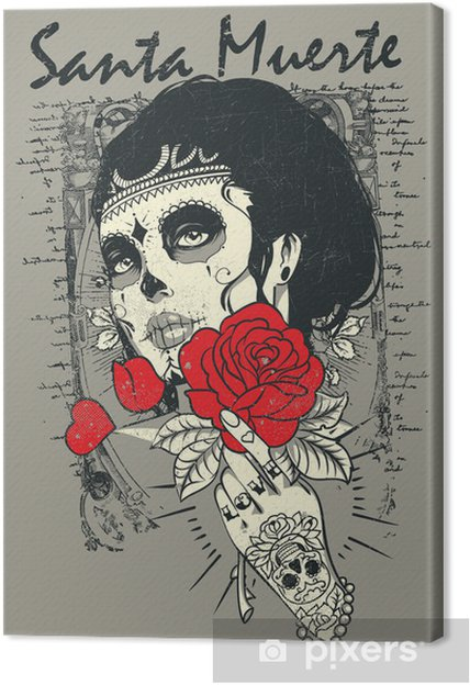 Canvas Santa muerte Rose - Thema's