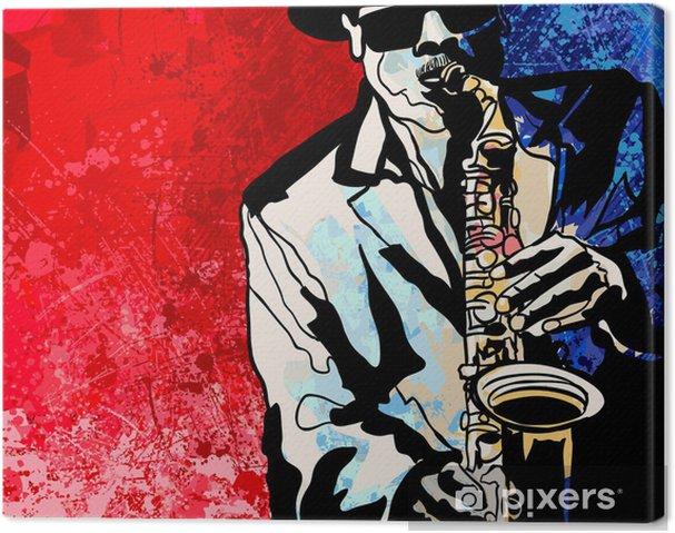 Canvas Saxofonist - jazz