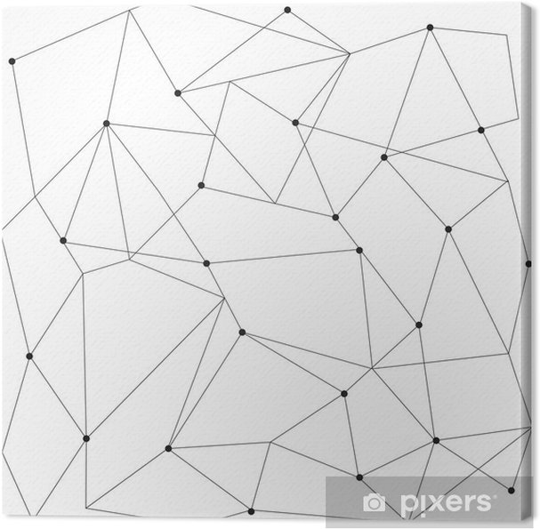 Canvas Scandinavisch geometrische modern naadloos patroon - Grafische Bronnen