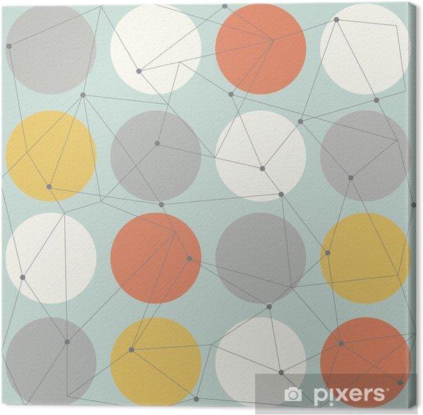 Canvas Scandinavisch geometrische modern naadloos patroon - Scandinavisch