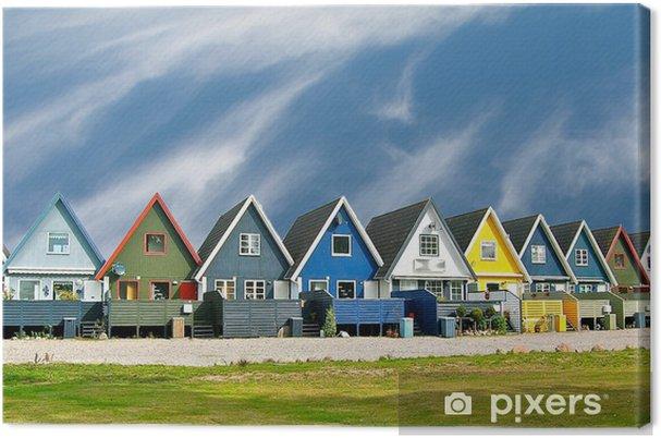 Canvas Scandinavische huizen - Thema's