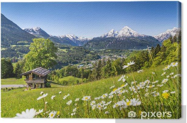 Canvas Schilderachtig landschap in de Beierse Alpen - Duitsland