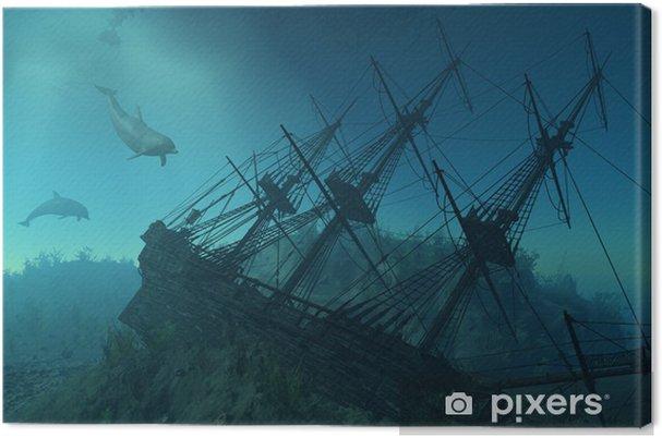 Canvas Schipbreuk onder het Overzees - 3d render - Thema's