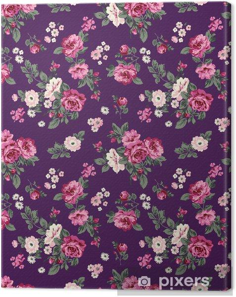 Canvas Schitterende rozen naadloze achtergrond - Thema's