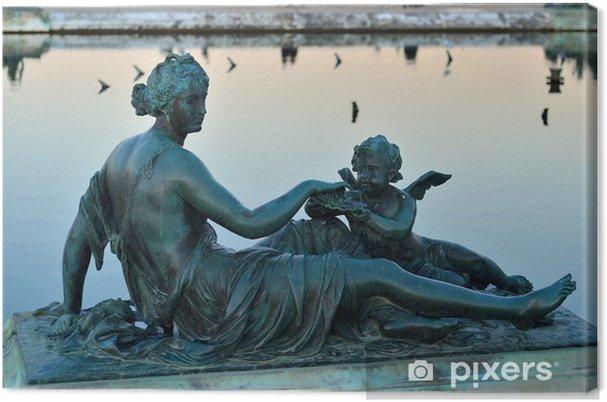 Canvas Sculptuur van de vrouw in het Paleis van Versailles - Europa