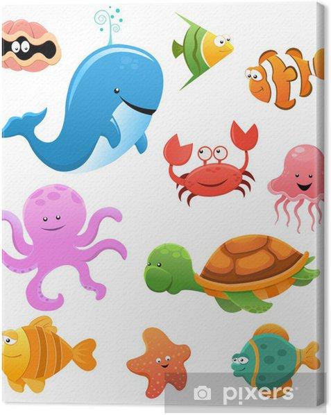 Canvas Sea Animal Set - Muursticker
