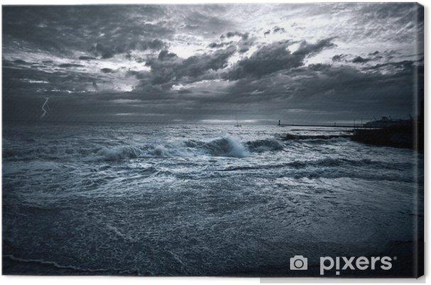 Canvas Sea storm - Achtergrond
