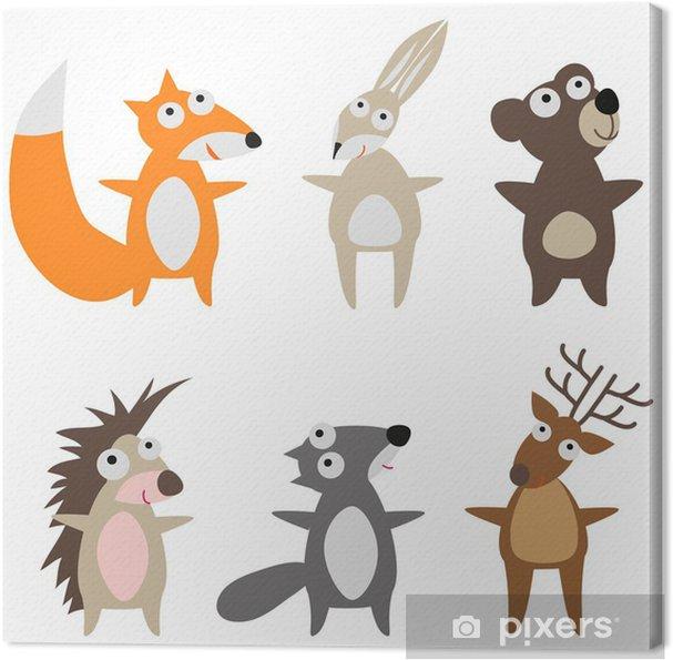 Canvas Set wilde dieren -