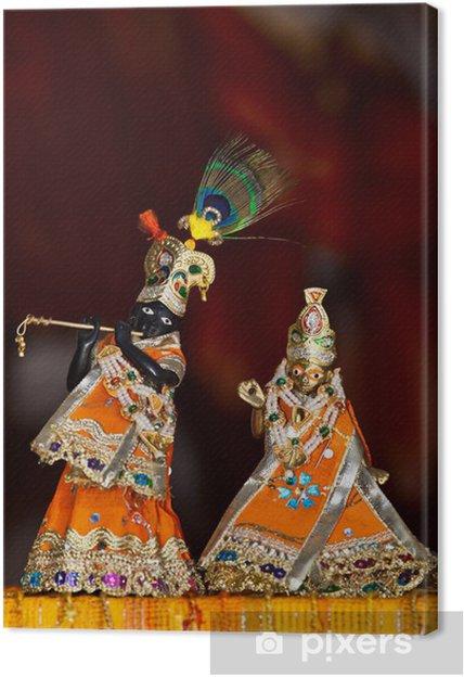 Canvas Shri Shri Radha Krishna - Religie