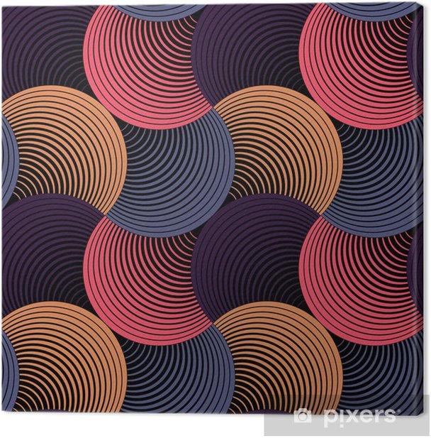 Canvas Sierlijke Geometrische Bloemblaadjes Grid, Abstract Vector Naadloos Patroon - Grafische Bronnen