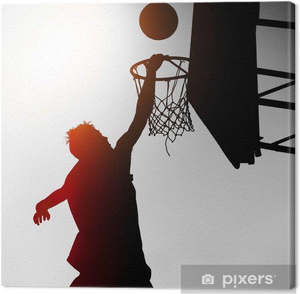 Canvas Silhouet van Basketbal Player - Basketbal