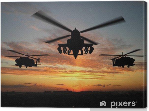 Canvas Silhouet van de helikopter - Thema's