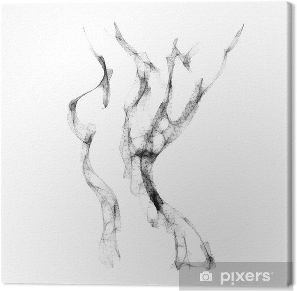 Canvas Silhouet van mooie vrouw naakt vector illustratie - Levensstijl