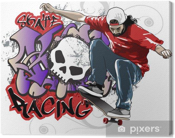 Canvas Skate Racing - Skateboarding