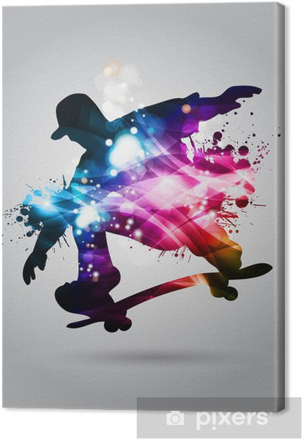 Canvas Skateboard - Skateboarding