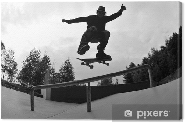 Canvas Skateboarden silhouet - Skateboarding