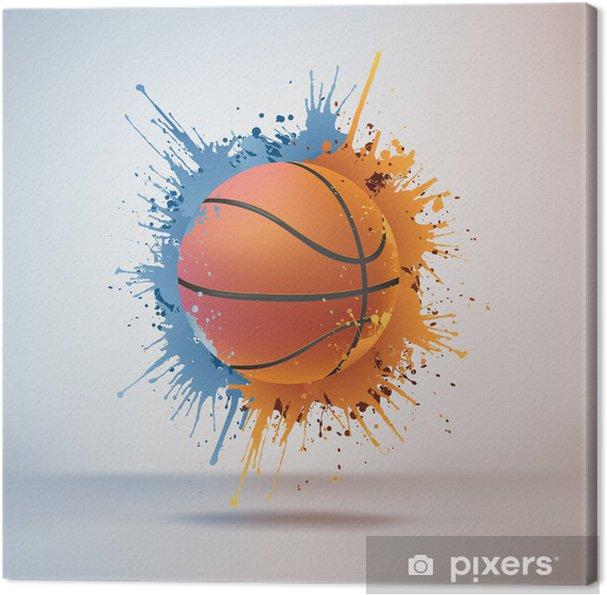 Canvas Sport_Basketball_Fire_Water_Paint_Vector_002 (4). Jpg - Basketbal