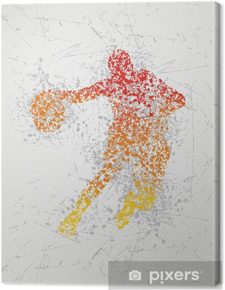 Canvas Sport kunst - Basketbal