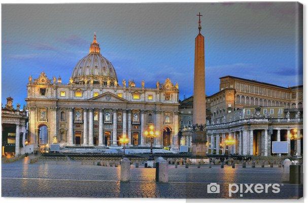 Canvas St. Peter's Basiliek, Rome - Thema's