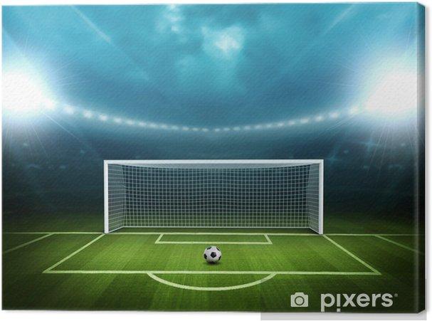 Canvas Stadion met voetbal -