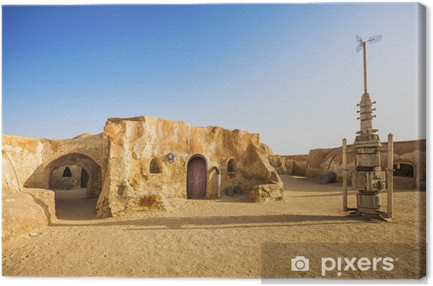 Canvas Star wars movie decoratie in de Sahara, Tunesië - Thema's