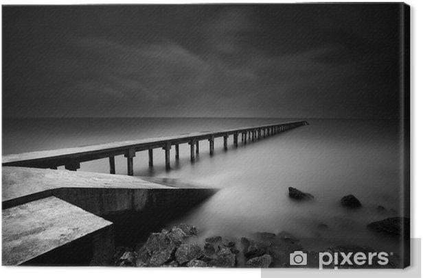 Canvas Steiger of Pier in zwart-wit - Thema's