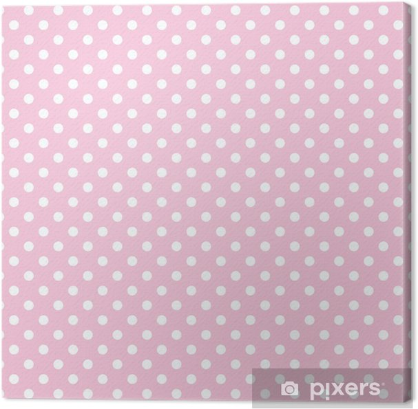 Canvas Stippen op baby roze achtergrond retro naadloze vector patroon - Thema's