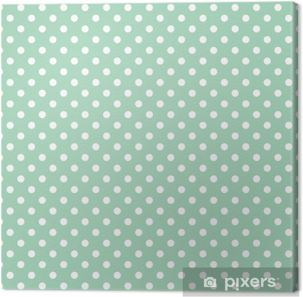 Canvas Stippen op mint achtergrond retro naadloze vector patroon - Thema's