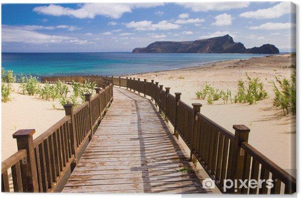 Canvas Stoep naar het strand - Vakantie