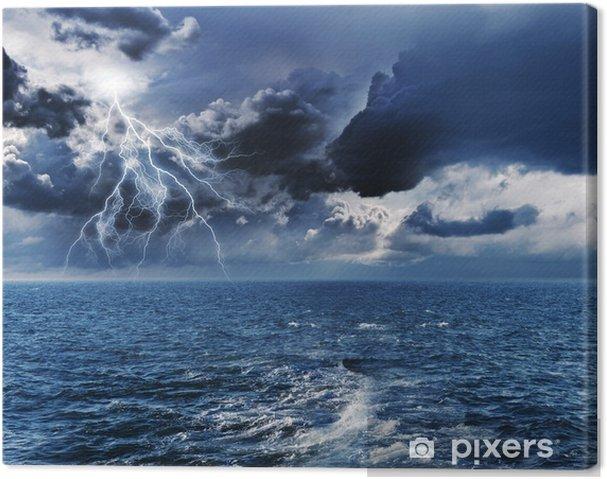 Canvas Storm in de nacht - Het Leven