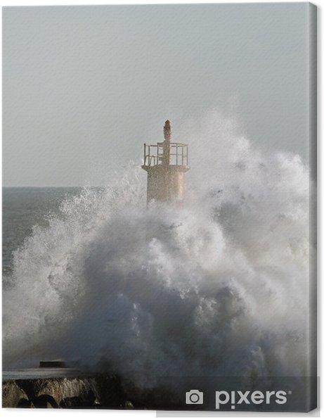 Canvas Stormachtige golf - Water