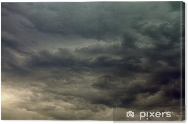 Canvas Stormachtige wolken - Hemel