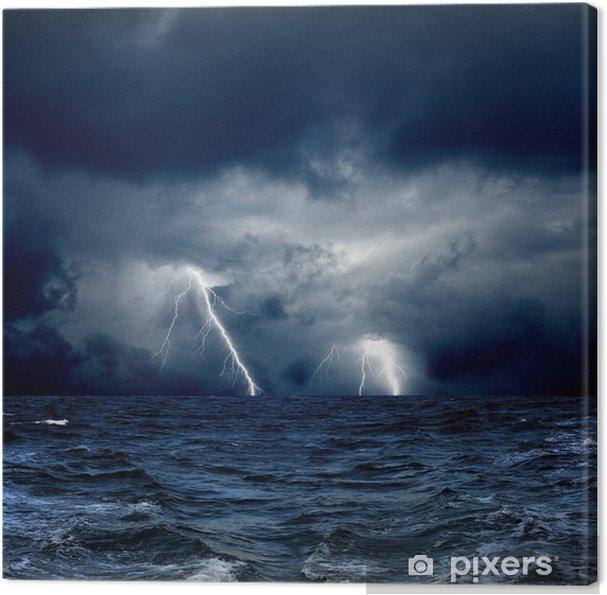 Canvas Stormachtige zee - Natuurrampen