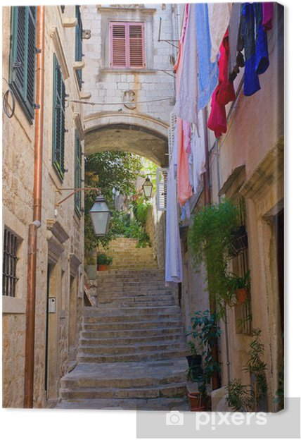 Canvas Straat en Dubrovnik - Europa
