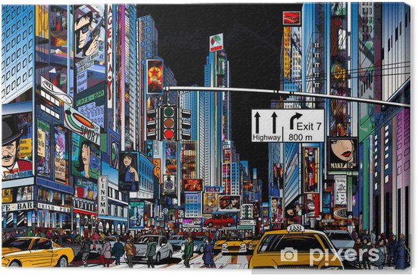 Canvas Straat in New York city -