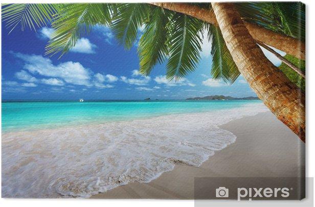 Canvas Strand bij Prtaslin eiland, Seychellen - Thema's