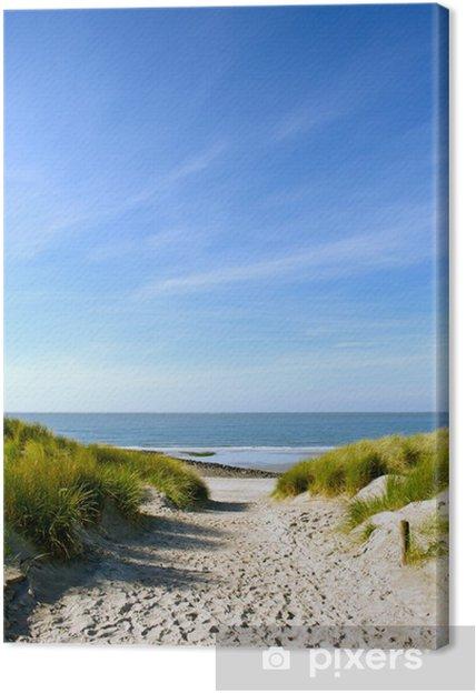 Canvas Strand en duinen - Nederland