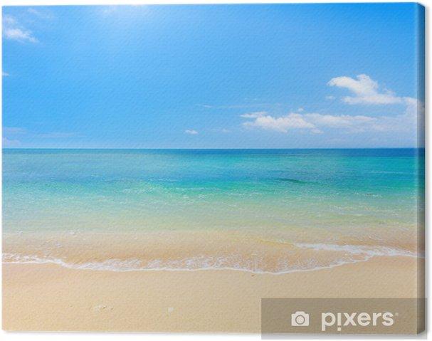 Canvas Strand en tropische zee - Strand en de tropen