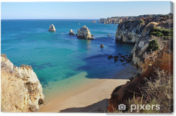 Canvas Strand in de Algarve - Thema's