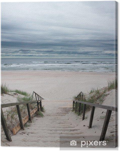 Canvas Strand - Oostzee - Zee en oceaan