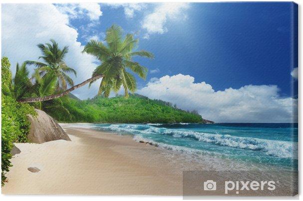 Canvas Strand van Mahe, Seychellen - Thema's