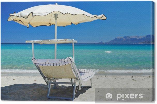 Strandstoel En Parasol.Canvas Strandstoel Met Parasol