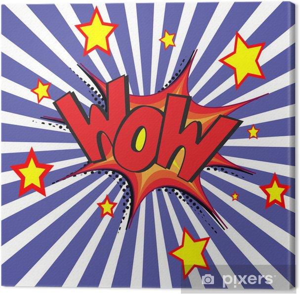 Canvas Strip Uitdrukkingen Vector Illustratie Kunst
