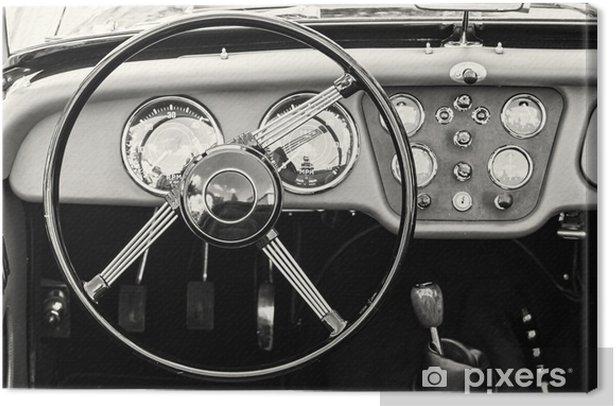 Canvas Stuurwiel en het dashboard in het historische oldtimer - Transport