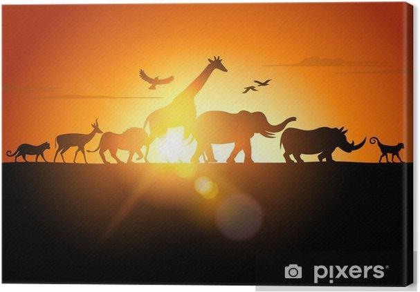 Canvas Sunset Safari - Thema's
