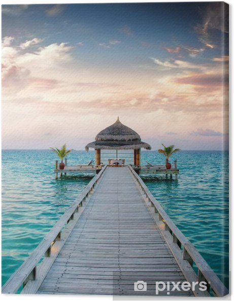 Canvas Sunset / Sunrise Jetty at Maldives / Malediven -