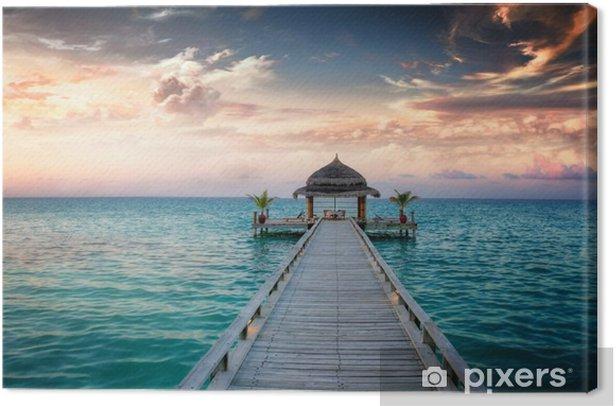 Canvas Sunset / Sunrise Jetty at Maldives / Malediven -