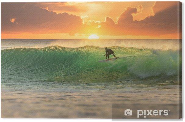 Canvas Surfer bij zonsopkomst - iStaging