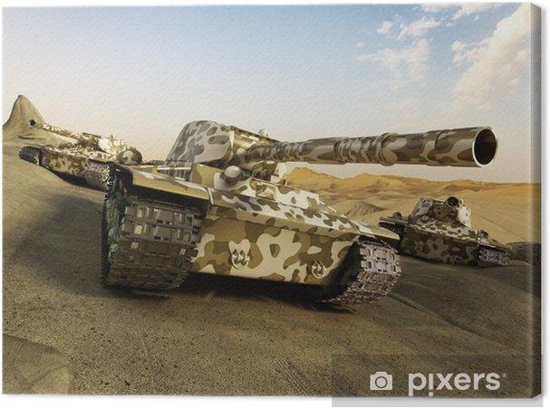 Canvas Tank in camouflage bewegen met de woestijn - Industrie
