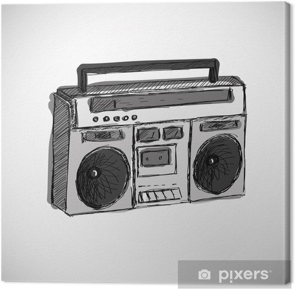 Canvas Tape-recorder - Hiphop